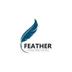 feather logo template vector icon