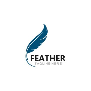 feather logo template vector icon