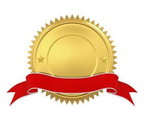 Blank Award Medal Isolated