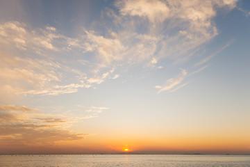 夕方の明石の海 Fototapete