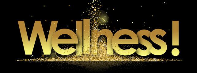 wellness in golden stars and black background Fototapete