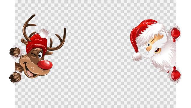 Santa Claus transparent background eps10 vector illustration