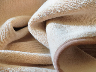 Brown textile background, fabric texture