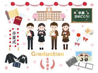 卒業式 学生セット1