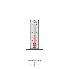 Thermometer - Line color icon