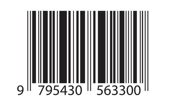 Barcode symbol. Bar code icon template with numbers isolated on white background