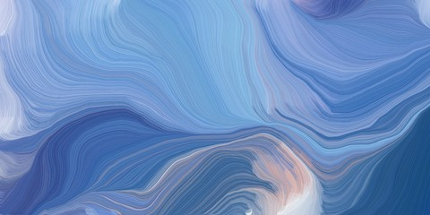 In de dag Abstract wave background graphic with elegant curvy swirl waves background design with corn flower blue, steel blue and thistle color