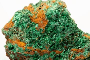 Fotobehang Vintage Poster Malachite, copper carbonate hydroxide mineral