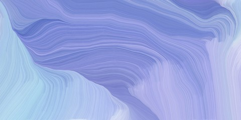 In de dag Abstract wave background graphic with curvy background design with light pastel purple, light blue and light steel blue color