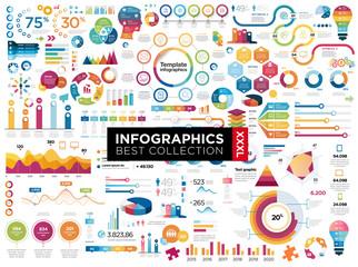 infographics Fotobehang