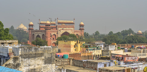 Aerial view of Agra, India