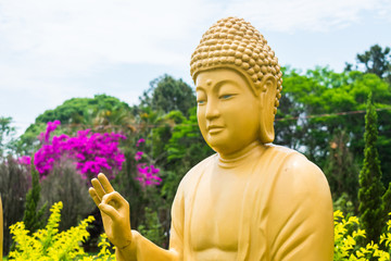 Buddha statue at Chen Tien Buddhist Temple in Foz do Iguacu, Parana - Brazil