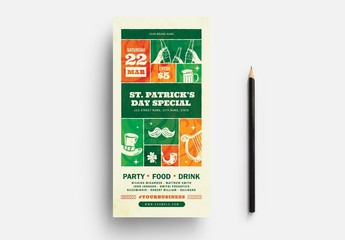 St. Patrick's Day Flyer Layout with Celtic Elements