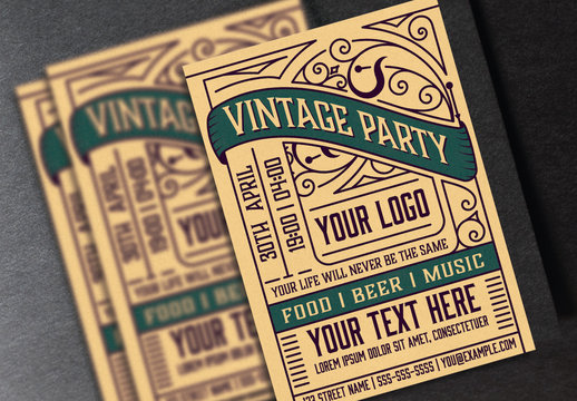 Vintage Event Poster Layout
