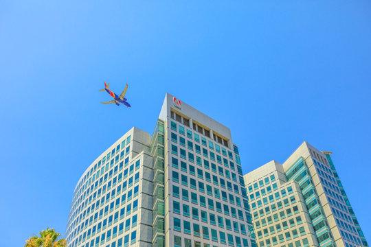 Adobe San Jose airplane