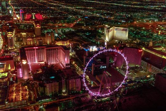 Las Vegas night aerial