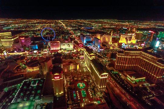 Las Vegas aerial night