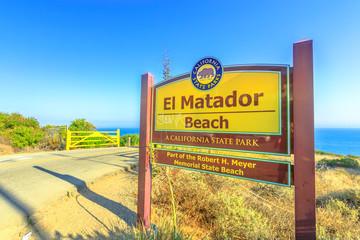 El Matador Beach Sign