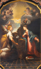 Wall Mural - COMO, ITALY - MAY 8, 2015: The painting of Annunciation in church Santuario del Santissimo Crocifisso.
