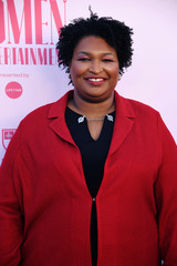 Stacey Abrams attends the Hollywood Reporter's annual Women in Entertainment Breakfast Gala in Los Angeles