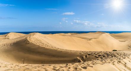 Wall Mural - Golden sand dunes of Maspalomas, Gran Canaria, Canary Islands, Spain