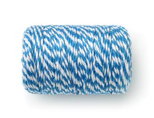 Blue striped bakers twine spool
