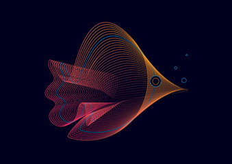 Abstract Graphic Fish