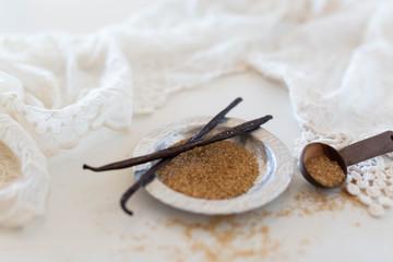 Vanilla bean and raw sugar
