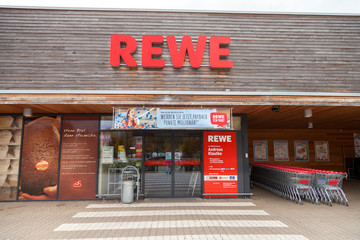 HANNOVER / GERMANY - OCTOBER 30, 2016: subsidiary from german supermarket chain, REWE