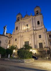 Fotomurales - Catania - The St. Francis of Assisi (Chiesa di San Francesco d'Assisi all'Immacolata) church at dusk.