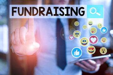 Handwriting text Fundraising. Conceptual photo act of collecting or producing money for a particular purpose