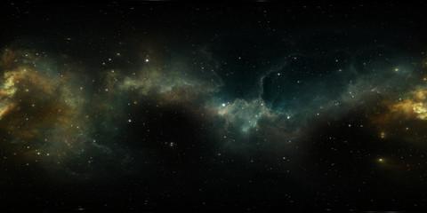 Wall Mural - 360 degree stellar system and gas nebula. Panorama, environment 360 HDRI map. Equirectangular projection, spherical panorama
