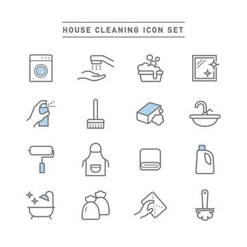 HOUSE CLEANING ICON SET