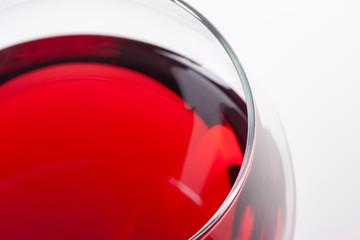 Fototapeten Alkohol Red wine in glass, viewed from the top corner.