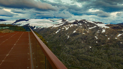 Mountains view from Dalsnibba viewpoint, Norway