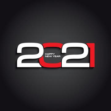 2021 dark background creative design for your greetings card, flyers, invitation, poster, brochure, banner, calendar