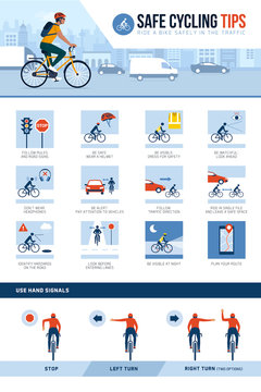 Safe cycling tips for riding safely in the city street