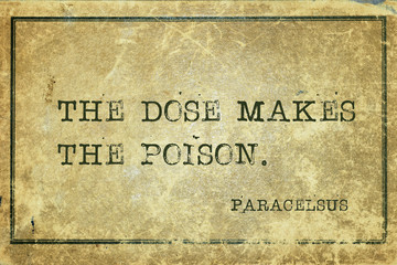 dose poison Paracelsus