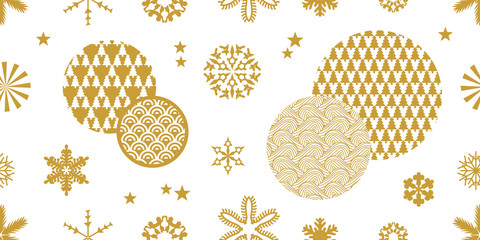Seamless vector pattern with snowflakes.