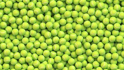 Fototapeta Huge pile of tennis balls obraz
