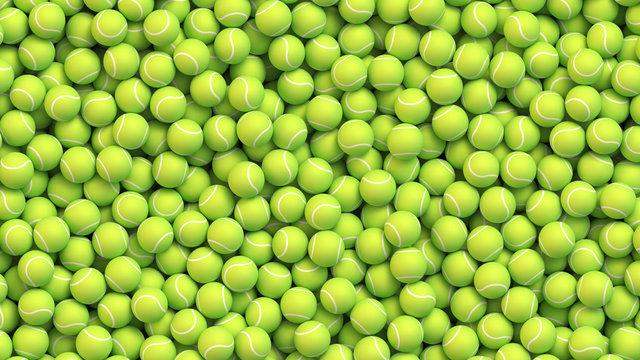 Huge pile of tennis balls