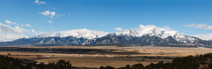 Fototapeta Colorado Scenic Beauty - Panoramic of the Collegiate Mountain Range. obraz