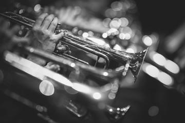 Foto op Canvas Muziek TROMPETAS Y SAXOS