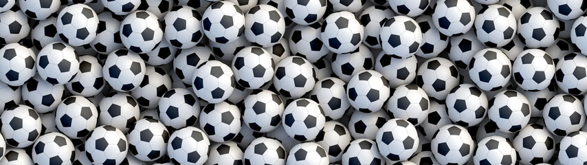 Deurstickers Bol Soccer balls background