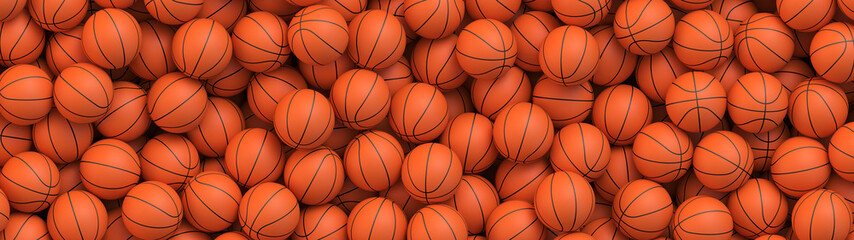 Zelfklevend Fotobehang Bol Basketball balls background