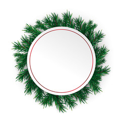 Christmas Circle Red Ring Green Twigs Red Baubles