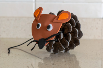 mouse perez made with pineapple or pine cone