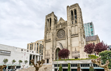 Grace Cathedral in San Francisco, California. Fototapete