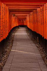 Fushimi Inari Shrine gates. Kyoto, Japan
