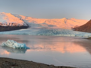 Aluminium Prints Dark grey glacier lagoon